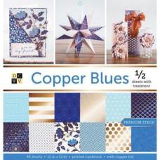 Набор скрапбумаги с фольгированием Copper Blue, 24 листа, DCWV