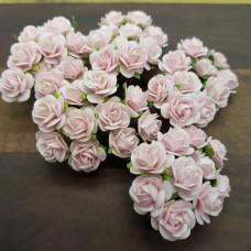Набор розочек 15 мм, 10 шт, цвет бледно-розовый