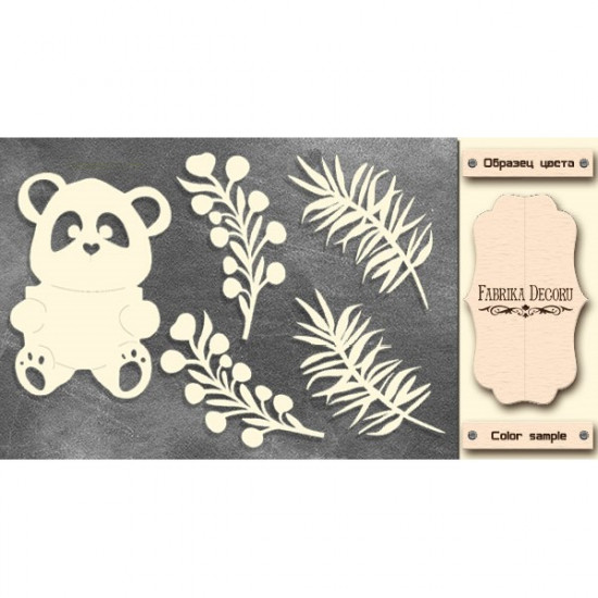 Набор чипбордов My little panda boy 2, молочный, Фабрика Декору