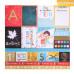 Бумага для скрапбукинга с фольгированием, Время учиться!, 30,5×30,5 см, 250 г/м, АртУзор
