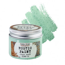 Краска рустик, цвет Зеленый мох, 50 мл, Фабрика Декору
