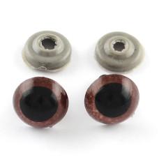 Глазки для кукол и игрушек, 22 мм, коричневый, 1 пара глазок