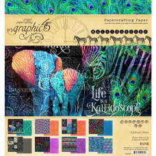Набор скрапбумаги Kaleidoscope, 20х20, 8 листов, Graphic45