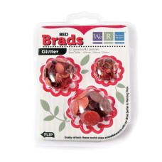 Брадсы Basic Brads Glitter - Red от We R Memory Keepers