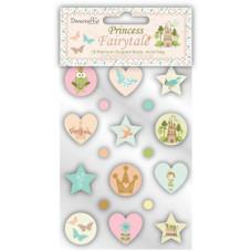 Брадсы Princess Fairytale Brads 18 шт. от Dovecraft