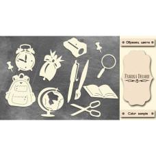 Набор чипбордов Школьные принадлежности #470 Milk, Фабрика Декору