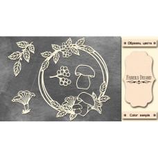 Набор чипбордов Круглая рамка с грибочками #471 Milk, Фабрика Декору