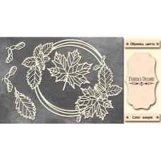 Набор чипбордов Круглая рамка с листочками #472 Milk, Фабрика Декору