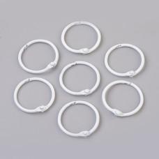Кольцо для альбомов, самозажимное, 30 мм, белый, 1 шт.