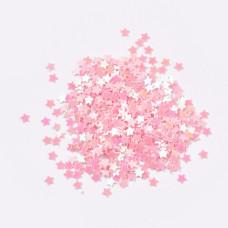 Набор пайеток Звезда розовая, 2.5 мм, 10 грамм