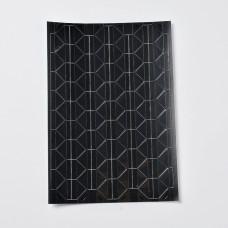 Набор уголков для фотографий, черный, 147x103мм, размер уголка 12x15.5мм, ок. 102шт/лист
