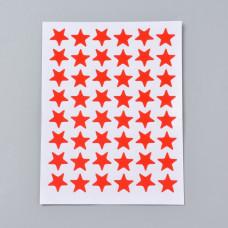 Набор наклеек Звездочки красные, 125x95мм; звезда 13мм; 48 шт/лист