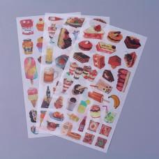 Набор наклеек Кулинария, 10х20 см, 3 листа