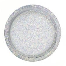 Глиттер белый серебристый (хамелеон), 10 грамм, ТМ Курдибановская