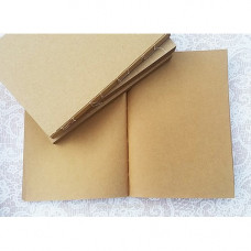 Блок для блокнота крафт чистый, А5, форзацы крафт, 80 листов, ТМ Курдибановская