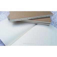 Блок для блокнота молочный чистый, А5, форзацы крафт, 80 листов, ТМ Курдибановская