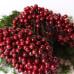 Глянцевые ягоды (калина), 1 веточка, 2 ягодки, 0,7 см, бордового цвета