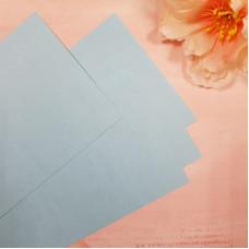 Заготовка для открытки, вертикальная, голубой, текстура лен, 290 г/м2, 10х15 см