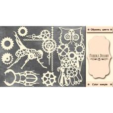 Набор чипбордов Grunge&Mechanics #483, цвет молочный, Фабрика Декора