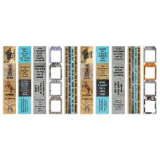 Набор полос с картинками для декорирования Grunge&Mechanics, Фабрика Декора