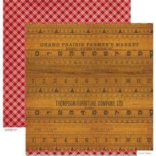 Двусторонняя скрапбумага Farmhouse - Farmer's Market от Crate Paper