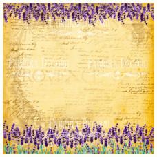 Деко веллум (лист кальки с рисунком) Бордюр из лаванд, Фабрика Декору