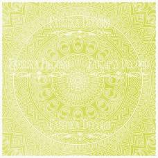 Деко веллум (лист кальки с рисунком) Салатовая мандала, Фабрика Декора