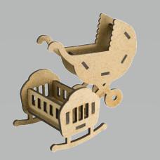3D Заготовка фигурки для оформления шедоубокса №57, Фабрика Декора