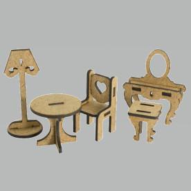 3D Заготовка фигурки для оформления шедоубокса №54, Фабрика Декора