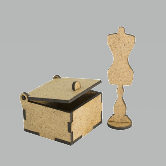 3D Заготовка фигурки для оформления шедоубокса №50, Фабрика Декора