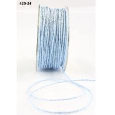 """Бумажный шнур """"Paper Cord"""" голубой 2 мм 90 см от May Arts"""