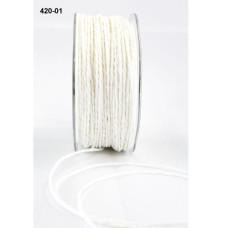 "Бумажный шнур ""Paper Cord""  белый 2 мм,  90 см от May Arts"
