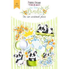 Набор высечек, коллекция My little panda boy, 45шт, Фабрика Декору
