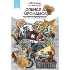 Набор высечек, коллекция Grunge&Mechanics, 77шт, Фабрика Декору