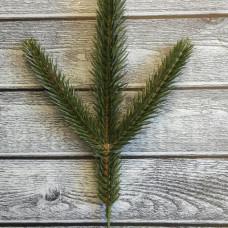 Ветка хвои Карпатская зеленая, 3 ветки, 25 см, искусственная хвоя