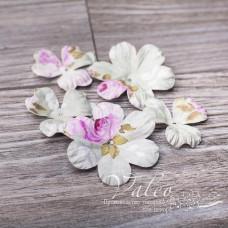 Декоративные бумажные Полевые цветы 40*40мм 2шт 30*30 3шт цветочный мотив 2991, Valeo