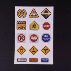 Лист наклеек Дорожные знаки  12x8 см