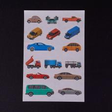 Лист наклеек Транспорт  12x8 см
