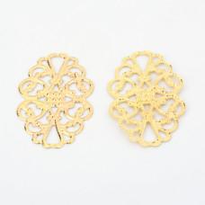 Декор-филигрань Овал, цвет золото, 31х20 мм