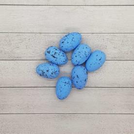 Яичко декоративное перепелиное, голубой цвет, 1 шт, 3 см