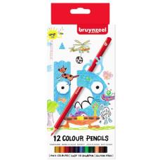 Набор детских цветных карандашей 12цв Bruynzeel