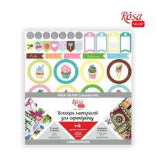 Коллекция для скрапбукинга Cake delicious 6л, Rosa