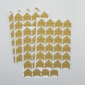 Лист наклеек - уголков для фотографий, крафт, 24 шт, 22х20 мм