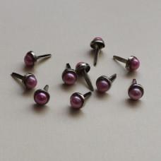 Брадсы для скрапбукинга розового цвета, 10 шт, 6мм