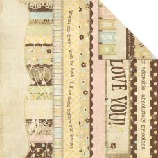 Двусторонняя бумага Title Strips 30x30 см от Simple Stories