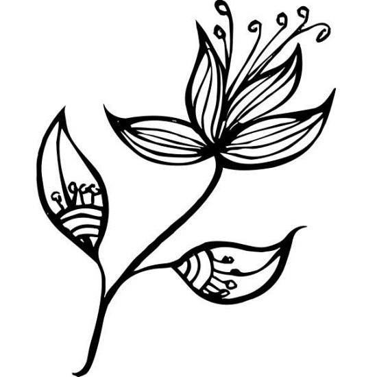 """Акриловый штамп """"Цветок"""" 3.6см x 4.5см"""