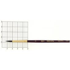 Белка круглая, 2080, № 2, короткая ручка, кисть, Rosa Gallery