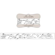 Лента с изображением рукописного текста, 2 см, 1 м