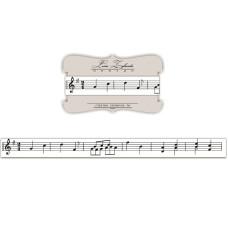 Лента с изображением нот, 1,5 см, 1 м
