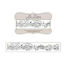 Лента с изображением рукописных нот, 2 см, 1 м